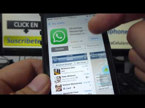 como Descargar whatsapp iphone gratis para iPhone 5s 5C 5 4 iOS 7 español Channeliphone