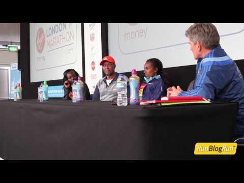 2017 London Marathon Post Race Press Conference - Women's Top 3