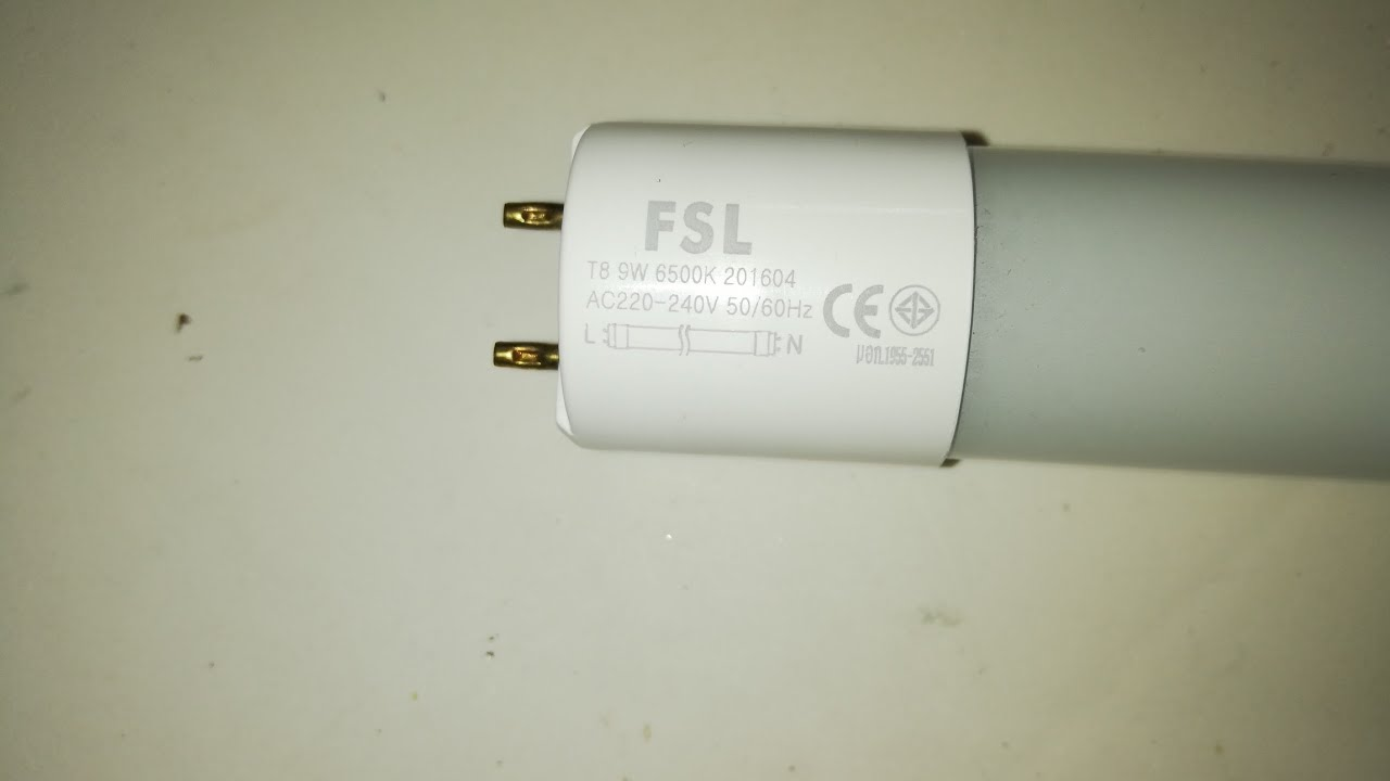 small resolution of fsl t8 9w led tube