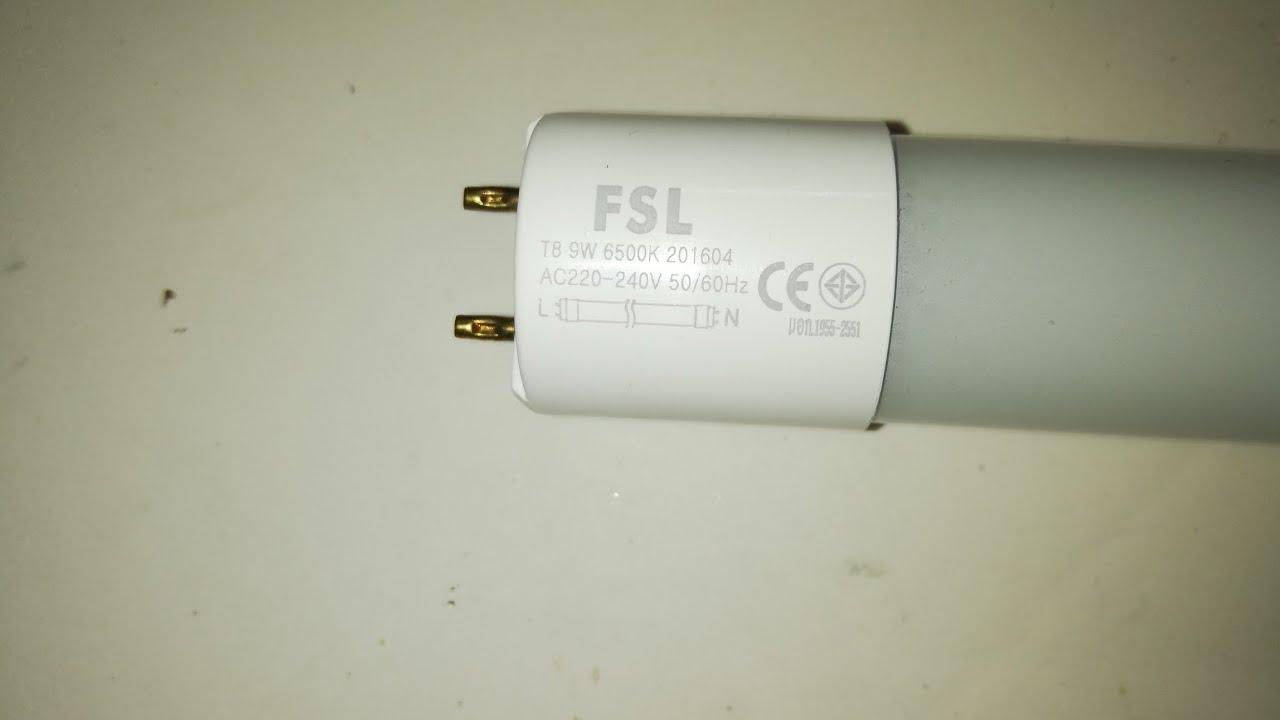 medium resolution of fsl t8 9w led tube