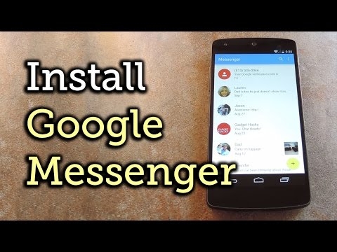 Install The New Android 5.0 Lollipop Messenger App On KitKat [How-To]