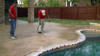 """""""Paint on, Paint off""""-How we resurface concrete in Keller, TX by SolCrete, LLC"""