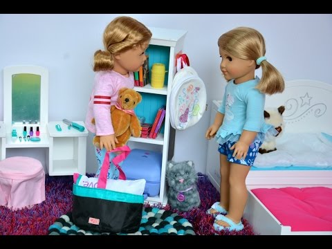 American Girl Doll Sleepover Routine ~ Featuring Sleepover Sets
