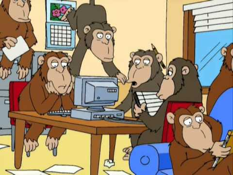 Family Guy - (S2xE7) Monkeys and a typewriter