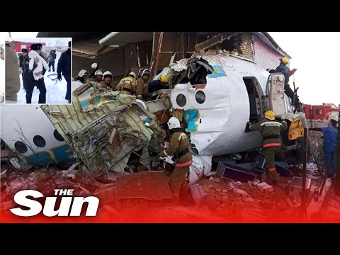 Kazakhstan Bek Air Plane Crashes Carrying Almost 100 People  Killing At Least A Dozen People