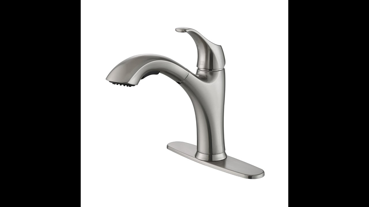 Kraus KPF-2250 Single Lever Pull-Out Kitchen Faucet - YouTube