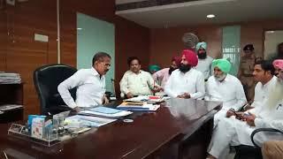 Simranjeet Singh Bains with Krishan Kumar in Office |
