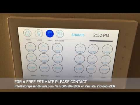 Motorized Curtains and Sheers integrated intro a Crestron Home Automation