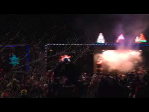Part 1, 2009 CPR US Holiday Train, Santa's Christmas Rapp With Fireworks!