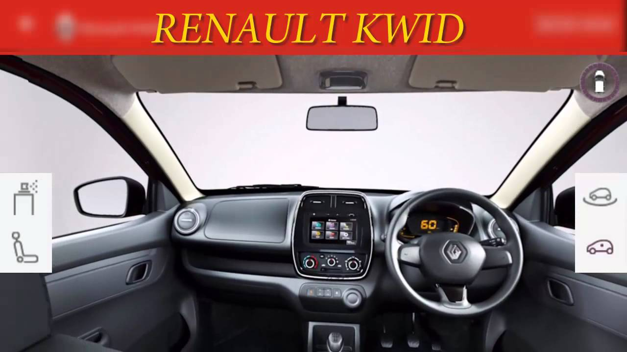 renault kwid 1 0l interior and exterior 3d view with color change hd youtube. Black Bedroom Furniture Sets. Home Design Ideas