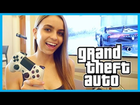Girlfriend Plays GRAND THEFT AUTO - SHE'S SAVAGE!!