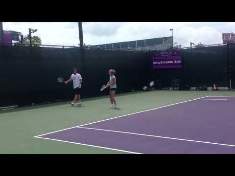 Dominika Cibulkova practicing at the Sony Ericsson Open 2012