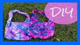 DIY Tie Dye Beach Bag/Hobo Bag