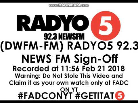 (DWFM-FM) RADYO5 92.3 NEWS FM New Sign-Off (with CC/Subtitles)