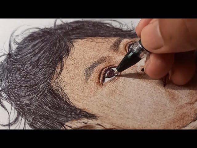 Kadambari Garad | Ball Pen Painting by Vishal Garad