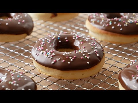 Donuts Selber Machen (im Backofen)    Homemade Oven Baked Donuts (Recipe)    [ENG SUBS]