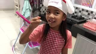 Zara Cute bikin Coklat Model Sendok | Makan Es Krim pakai Sendok Coklat