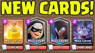 OMG! Gemming Four NEW Cards to MAX! ♦ MASSIVE UPDATE ♦ Clash Royale NEW 2017 Update!