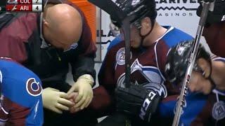 Nathan MacKinnon Possible Thumb Injury vs Arizona