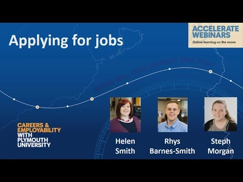 Applying for jobs – webinar recording