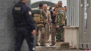 Raw: Peshmerga Troops Entering Syria