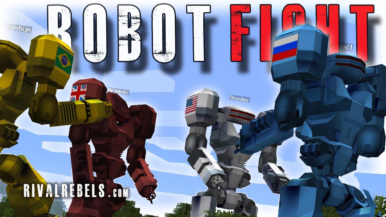 Giant Robot Boss Battle Minecraft Mod Rival Rebels Youtube