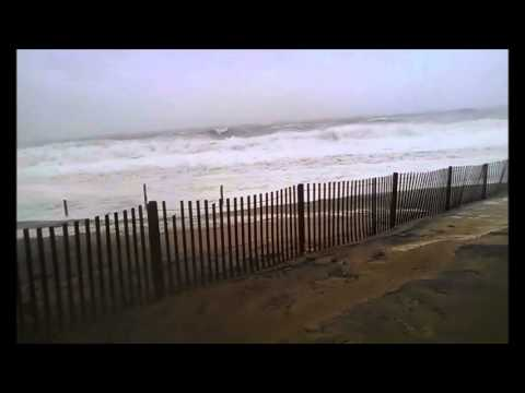 Heavy Wind And Huge Waves At Rehoboth Beach Delaware Angry Ocean