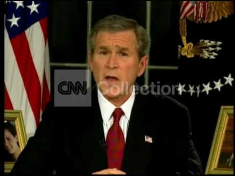 BUSH ANNOUNCE IRAQ WAR