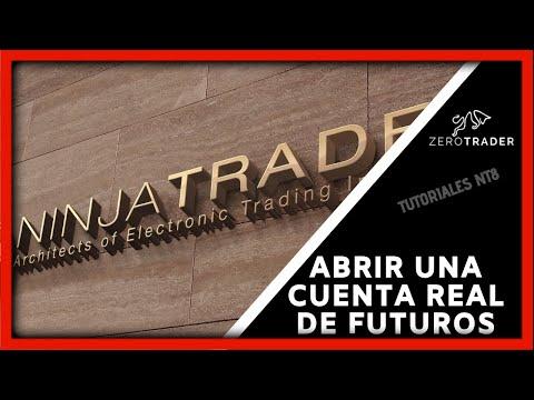 Proceso para abrir cuenta real de futuros con Ninja Trader Brokerage