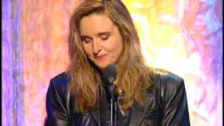 Melissa Etheridge inducts Janis Joplin Rock and Roll Hall of Fame inductions 1995