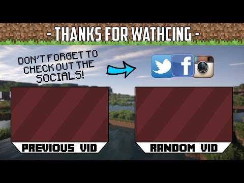 FREE MINECRAFT 2D OUTRO TEMPLATE {DOWNLOAD IN DESC}