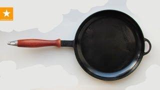 Как очистить чугунную сковороду. Как ухаживать за чугунной сковородой(, 2014-05-06T10:06:03.000Z)