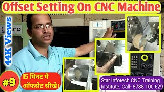 Learn CNC part 9 / work offset in CNC turning center / आओ CNC सीखे भाग 9 / offset setting in Hindi
