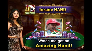 సాయిని got an amazing hand on Ultimate Teen Patti! (UTP)