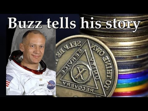 Buzz Aldrin tells his Alcoholism Recovery Stories   AA Speakers