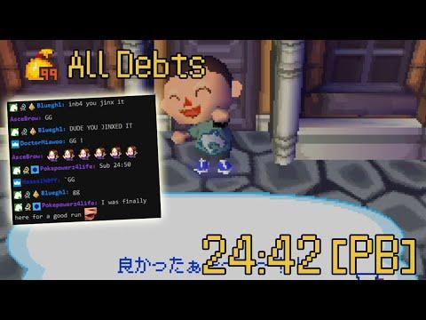 Animal Crossing Wild World All Debts Speedrun in 24:42 [Former WR]