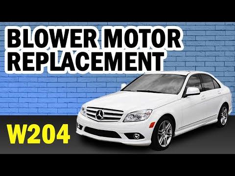 Mercedes-Benz W204 C-Class Blower Motor Replacement DIY (2008-2014)