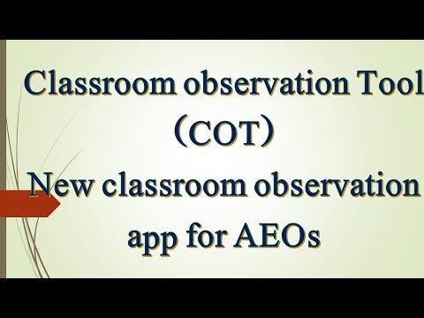 AEOs Classroom Observation (COT)