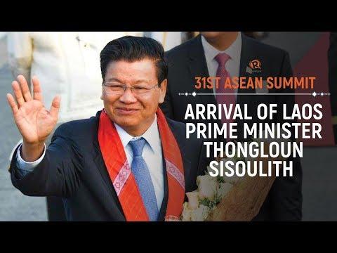 ASEAN 2017: Arrival of Laos Prime Minister Thongloun Sisoulith