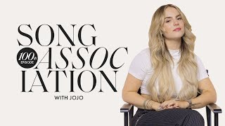 JoJo Sings Aaliyah, Whitney Houston, & Mariah Carey in our 100th Episode of Song Association | ELLE