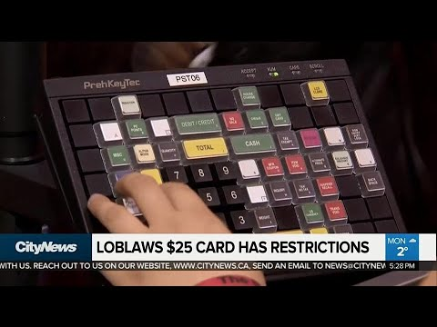 Loblaws $25 gift card has restrictions