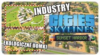 """Sunset Harbor   Cities: Skylines #14 - """"PRZEMYSŁ DRZEWNY"""" 1080p60"""