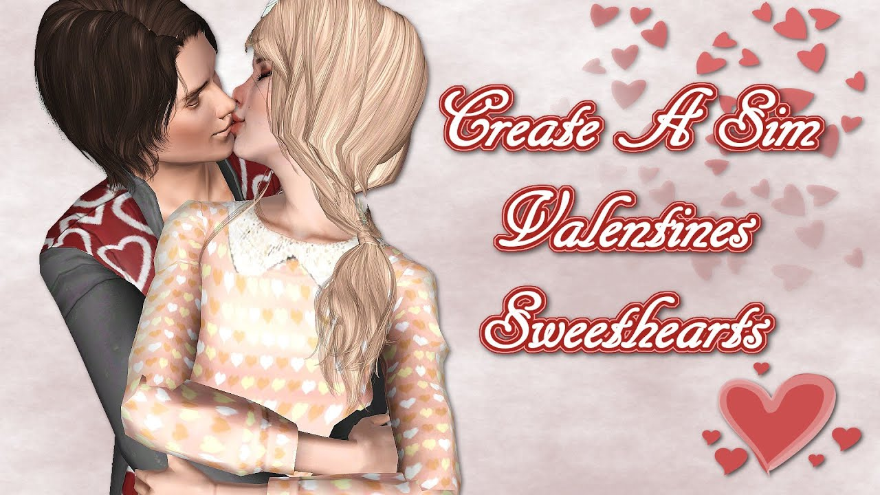 The Sims 3 Create A Sim Valentines Sweethearts YouTube