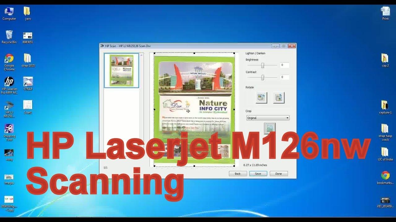 HP Laserjet M126nw Scanning