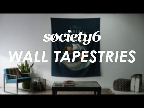 Wall Tapestries From Society6 - Product Video