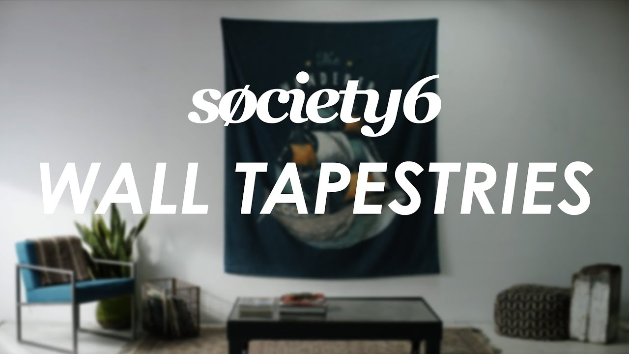 Wall tapestries from society product video also youtube rh