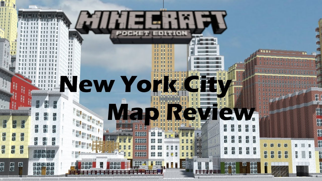 Minecraft Pocket Edition - New York City (map review) - YouTube on