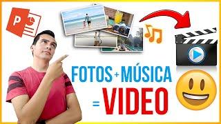 Como hacer un video con fotos y musica en power point