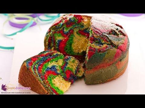 Multi-color cake recipe