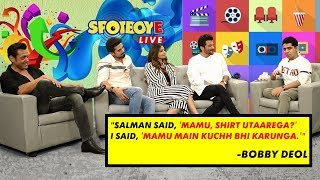 Bobby Deol, Anil Kapoor, Saqib Saleem, & Daisy Shah Talk About Their Film 'RACE 3'| SpotboyE